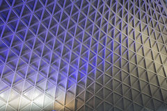 Kings Cross Station. Textured illuminated ceiling Stock Images