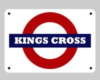 Kings Cross underground sign Royalty Free Stock Images