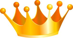 Kings crown. An illustration of a gold kings crown stock illustration