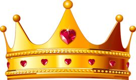 Kings crown. Beautiful illustration of a gold kings crown vector illustration