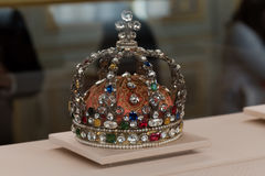 Kings crown. Beautiful kings crown with diamonds Stock Images