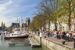Kings day in Dordrecht Royalty Free Stock Photography