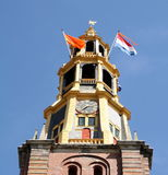 Kings day. Groningen. The der Aa church on Kings day in the city of Groningen. Netherlands Stock Photo