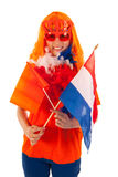 Kings day in Holland in orange Royalty Free Stock Photography