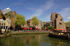 Kings day at Old Harbour Rotterdam. Citizens celebrate Netherlands Kings Day at Old Harbour Rotterdam on April 27th, 2015. The Old Harbour is the oldest harbour Royalty Free Stock Photos