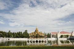 Kings familly palace. The gardens in a fantastic palace in Thailand Royalty Free Stock Images