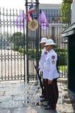 Kings Guard in Grand Royal Palace Stock Photos