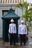 Kings Guard in Grand Royal Palace in Bangkok Royalty Free Stock Image