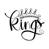 Kings hand lettering. Hand drawing illustration vector illustration