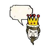 kings head cartoon Royalty Free Stock Photography