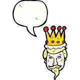 kings head cartoon Royalty Free Stock Photos