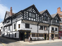 Kings Head pub in Chester Cheshire UK. Kings Head pub is a traditional public house in Chester Cheshire UK Royalty Free Stock Photography