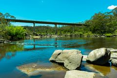 The Kings Highway Bridge over the Shoalhaven River near Braidwood Royalty Free Stock Image