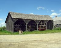 Kings Landing Barn. A photo of a barn taken at Kings Landing in New Brunswick, Canada Stock Photos