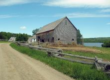 Kings Landing Barn. An old barn at King's Landing in New Brunswick Royalty Free Stock Image