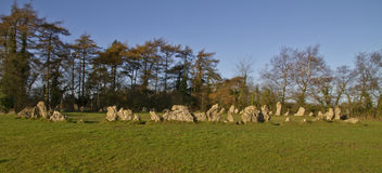 The Kings Men neolithic stone circle, Cotswolds Royalty Free Stock Image