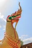 Kings of Naga statue Royalty Free Stock Photo