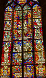 Kings Netherlands Stained Glass New Cathedral Delft Netherlands Royalty Free Stock Photos