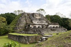 The Kings Palace - Altun Ha stock image
