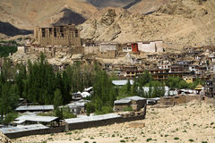 Kings palace in Leh in indian Ladakh. Royalty Free Stock Photo
