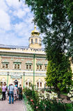Kings  palaces. Carpenter and Caliche tower. Holy Trinity St. Sergius Lavra Stock Images