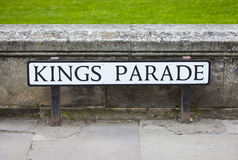 Kings Parade in Cambridge Royalty Free Stock Photos