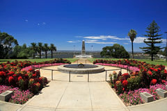 Kings Park,Perth,Western Australia. State War Monument at Kings Park Perth Botanic Gardens,Western Australia.Swan River in the background Royalty Free Stock Images