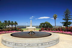 Kings Park,Perth,Western Australia. State War Monument at Kings Park Perth Botanic Gardens,Western Australia.Swan River in the background Stock Images