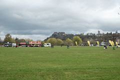 Kings Park Stirling awaiting the arrival of the first Marathon R stock photos