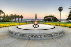 Kings Park War Memorial at Sunset Stock Photos