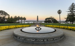 Kings Park War Memorial at Sunset Stock Photo