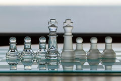 Kings and Pawns - business metaphor series Stock Photos