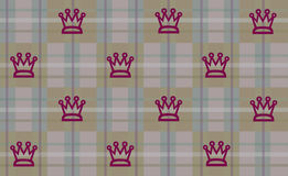 Kings Plaid. Plaid pattern with kings crown for the masculine persuasion Stock Images