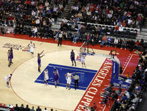 Kings player shoots free throw from the line Stock Photography