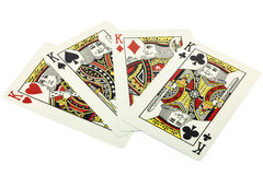 4 kings. For poker hearts Royalty Free Illustration