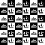 Kings and queens. Pattern, digital paper royalty free illustration