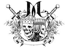 Kings and queens. Vector illustration ideal for printing on apparel clothes Stock Photography