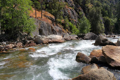 Kings river. South fork Kings river in Kings Canyon National Park Royalty Free Stock Images