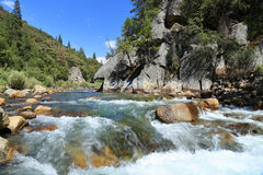 Kings river. South fork Kings river in Kings Canyon National Park Royalty Free Stock Photos