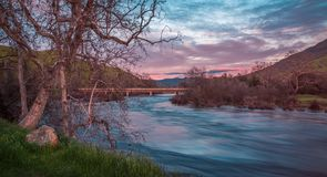 Kings River Sunset royalty free stock photo