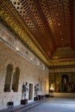 Kings room in Alcazar, Segovia, Spain Stock Image