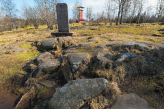 The Kings stones at Kinnekulle observation tower Royalty Free Stock Photos