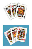 Kings tris. Two different arrangements and backgrounds Royalty Free Stock Photos