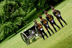 Kings Troop. Royal horse artillery London England Royalty Free Stock Photo