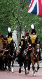 The Kings Troop Royal Horse Artillery. In The Mall on Trooping of the Colour London England Stock Photos