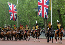 The Kings Troop Royal Horse Artillery Royalty Free Stock Photo