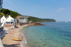 Kingsand Cornwall Anglia Zjednoczone Królestwo na Rame półwysepie przegapia Plymouth dźwięka Obraz Royalty Free