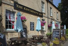 The Kingsbridge Inn Riverside Pub. The Kingsbridge Inn Bourton on the Water Royalty Free Stock Photos