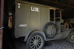 WWi Restored American Expeditionary Force Supply Truck stock photo