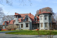 Kingscote Mansion, Newport, Rhode Island, USA. Kingscote is a Gothic Revival Mansion on Bellevue Avenue, Newport, Rhode Island, USA. This mansion was built in royalty free stock photo